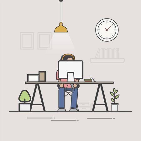 Illustration of office worker avatar Stockfoto
