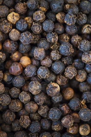 Closeup of black pepper texture