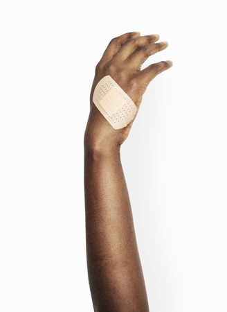 Hand with a bandage