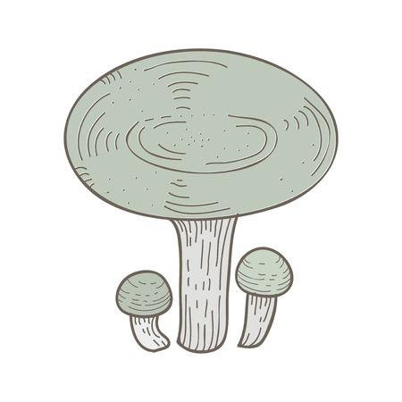 Illustration of mushroom Foto de archivo - 95971893