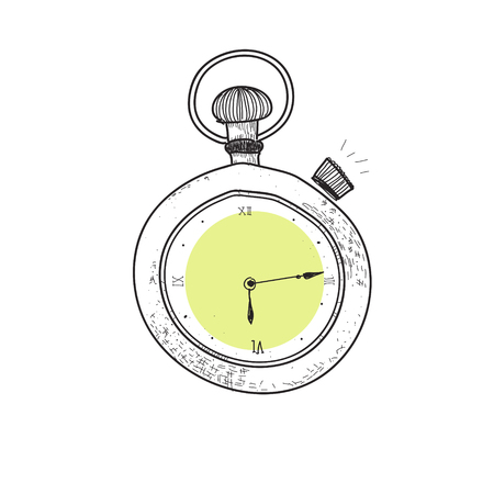 Clock of doodle style Stock Photo - 95972054