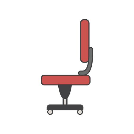 Illustration of office chair icon Фото со стока