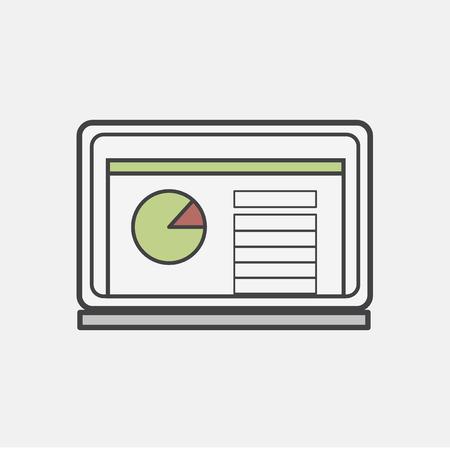 Illustration of computer laptop