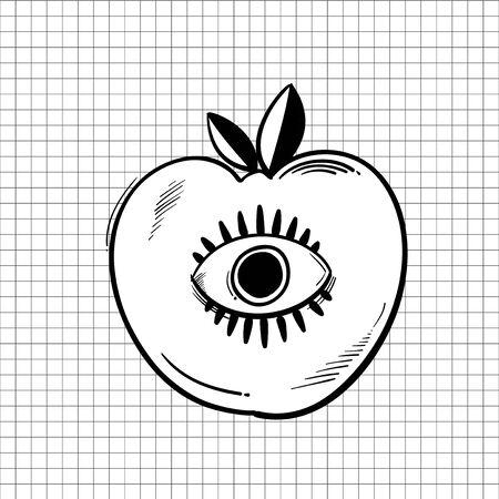 Illustration of apple Stock Photo