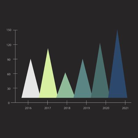 Progress chart concept 版權商用圖片