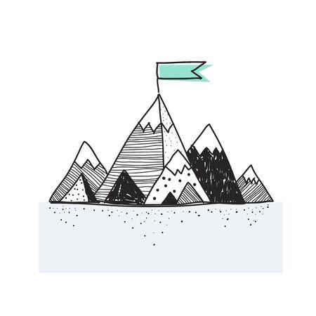 Illustration of a mountains Stock Photo