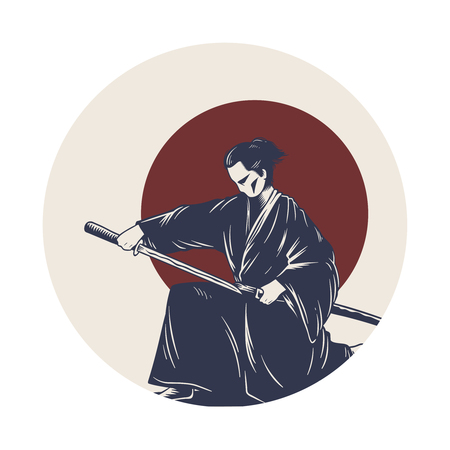Japanese tradition style Illustration
