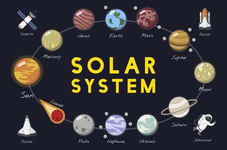 Il vettore del sistema solare Archivio Fotografico - 95972591