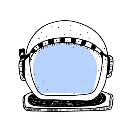 Doodle of diving helmet