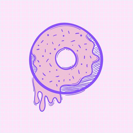 Illustration of doughnut icon Foto de archivo - 95972604