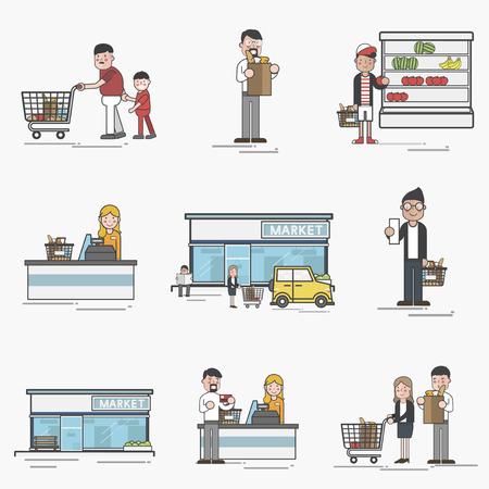 Illustration of supermarket Imagens - 95972610