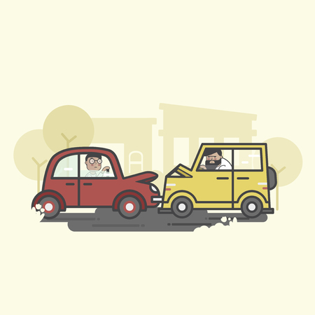 Illustration of cars accident