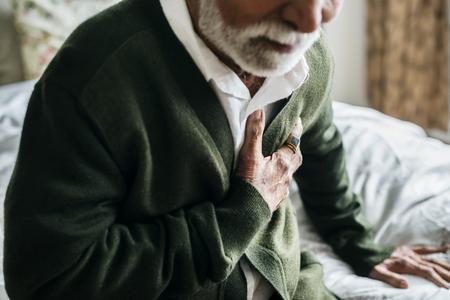 An elderly Indian man with heart problems Standard-Bild - 95980524