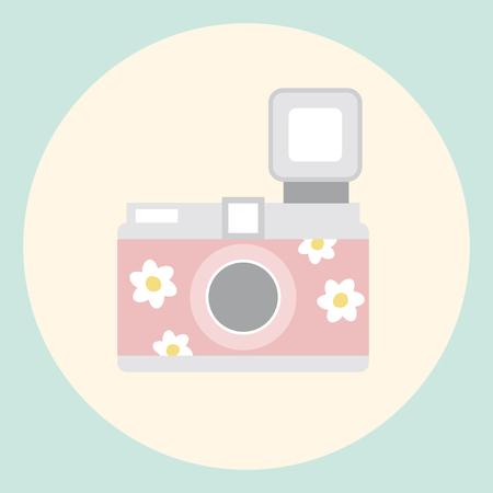 Illustration of a camera Stok Fotoğraf - 115729393