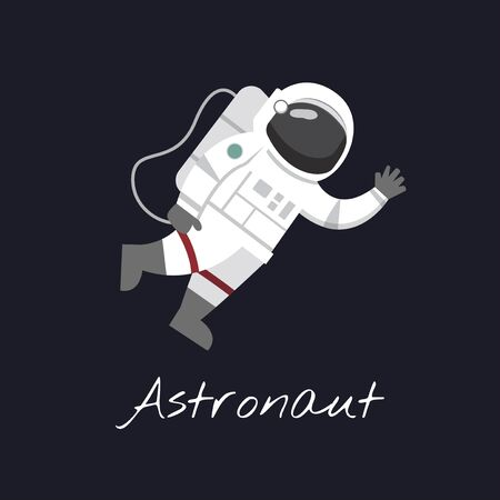 illustration of Astronaut on the moon