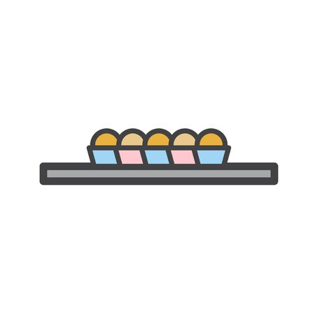 Illustration of baked products Stok Fotoğraf - 95980255