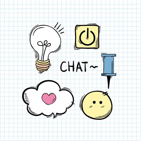 Social media online communication chat 版權商用圖片 - 95980272