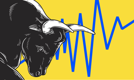 Bull Market Artwork Icon Business Concept Фото со стока - 95979759