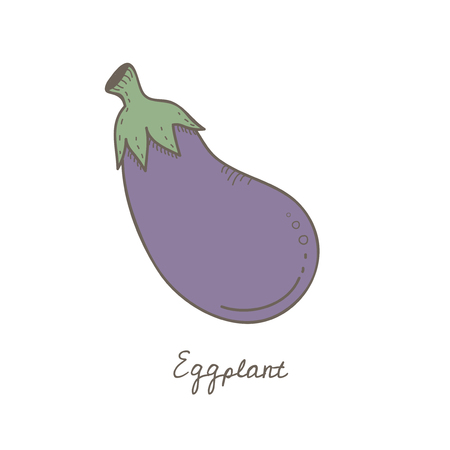 Illustration of an eggplant 스톡 콘텐츠