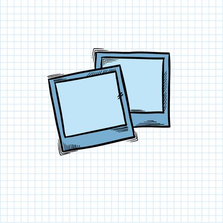 Illustration of photograph isolated on background Imagens - 95979778