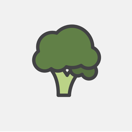 Illustration of raw vegetable icon