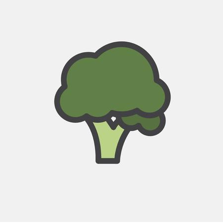 Illustration of raw vegetable icon Stok Fotoğraf - 95980136
