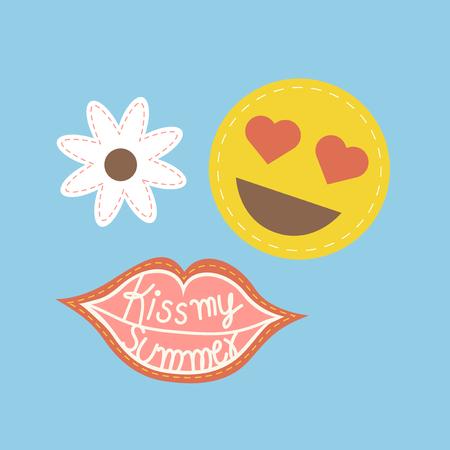 Illustration of summer theme Stok Fotoğraf