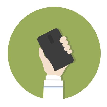 Hand holding a smartphone Banco de Imagens