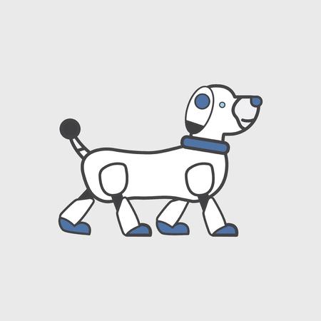 Pet dog robot concept Stock Photo