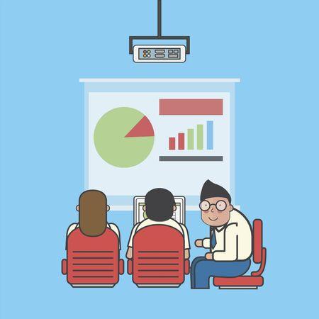Illustration of business people avatar Stock Photo