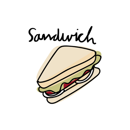 Illustration drawing style of sandwich Stock Photo