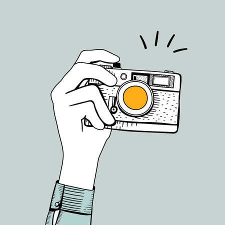 Illustration of vintage camera