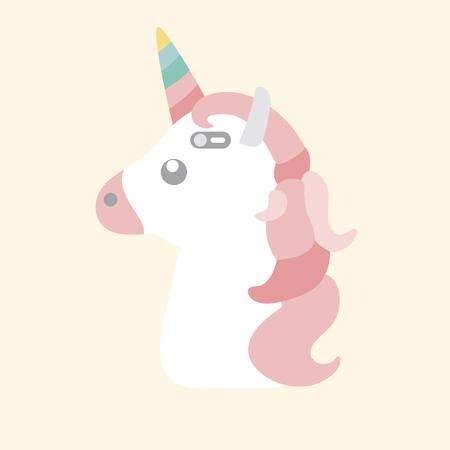 Pastel unicorn phone case illustration  写真素材
