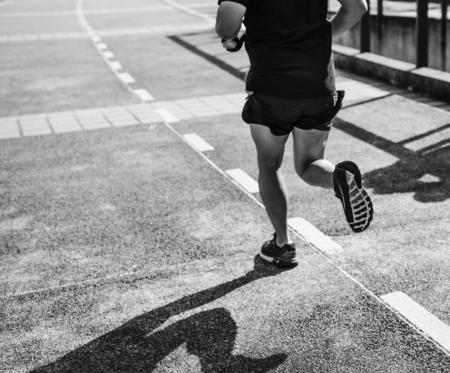 A man jogging at park