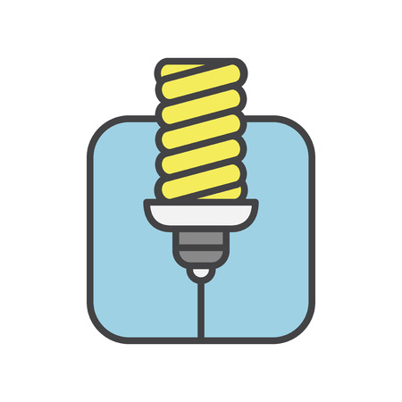 Illustration of light bulb Stockfoto