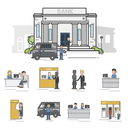Banking theme concept Imagens