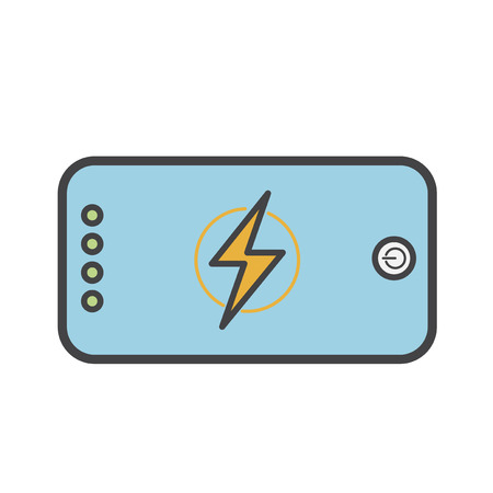 Smartphone with charging indicator icon
