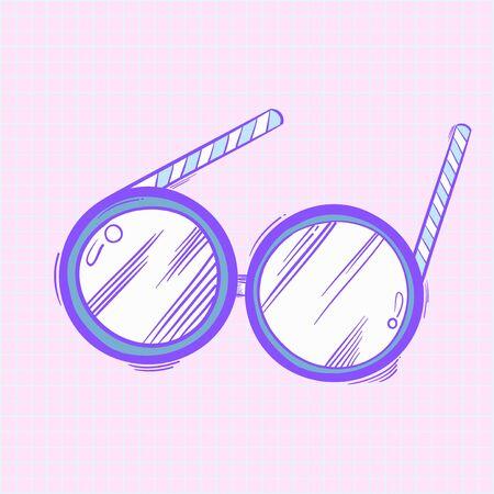 Illustration of eyeglasses icon