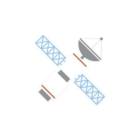 Illustration of satellite Stock Photo