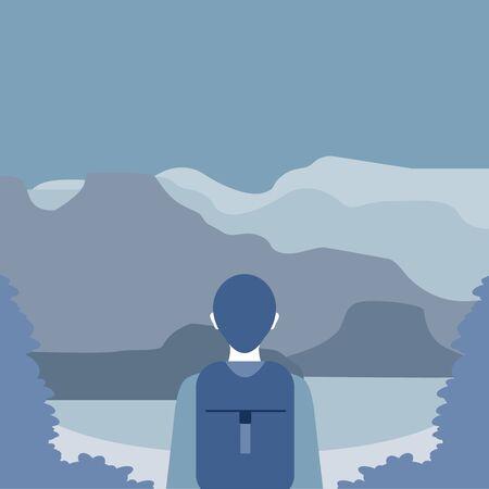 An explorer illustration Stock Illustration - 95978463