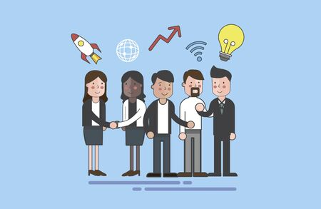 Illustration of business people Stok Fotoğraf