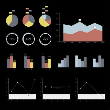 Data charts concept