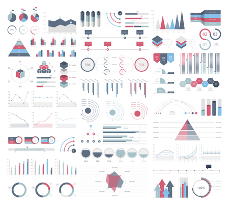Set elements of infographic 写真素材