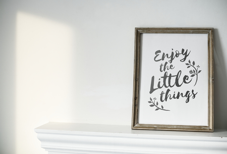 Home decor with quote
