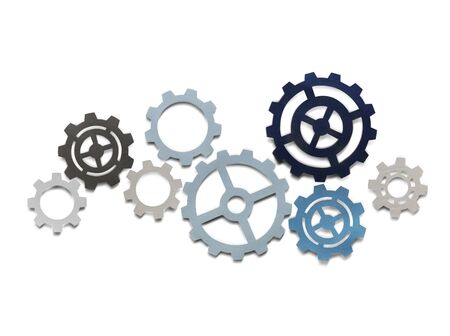 Support gears isolated on white background Stock Photo