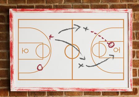Sport coaching board game tactic