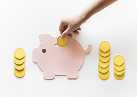 貯金箱将来の貯蓄投資