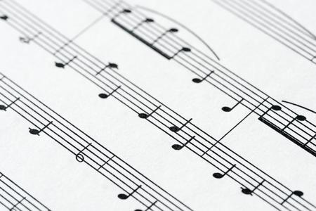Closeup of musical sheet Stok Fotoğraf