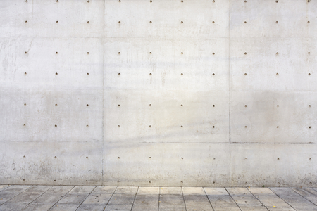 Industrial building outdoors cement wall copyspace Stock Photo