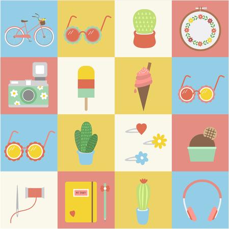 illustration of lifestyle Stockfoto